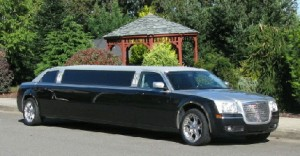black limo parked