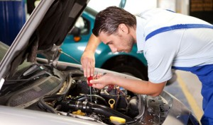 man working at auto repair