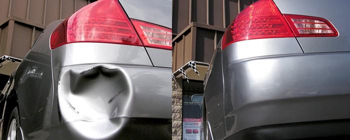 dent on a car