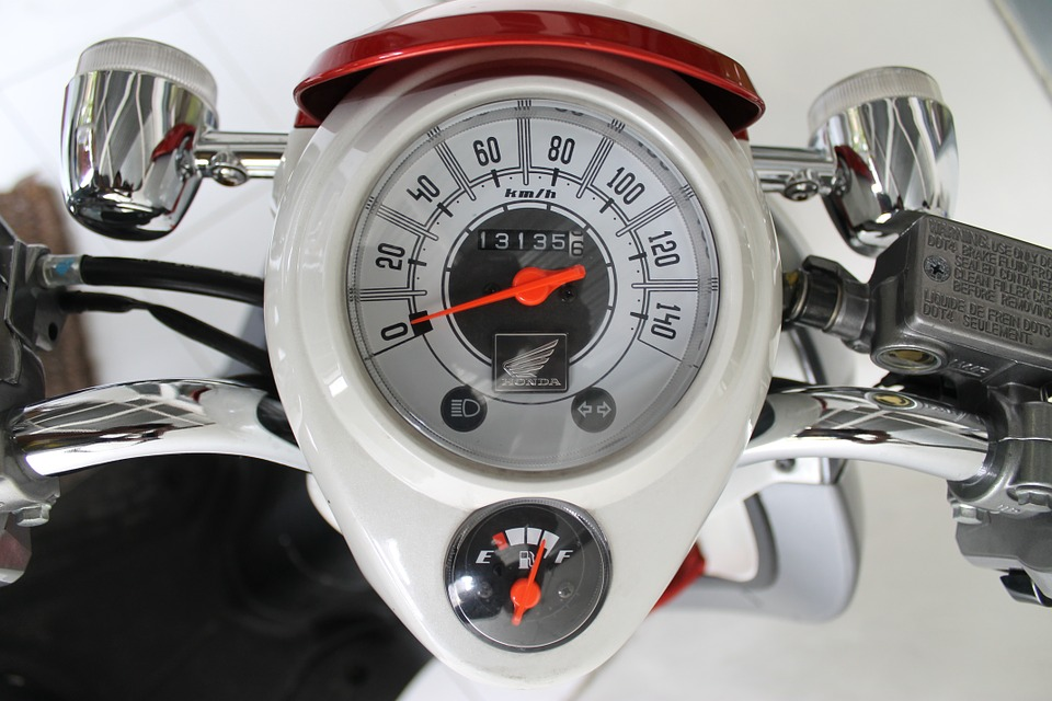speedometer on a bike