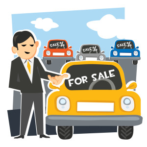 taxi for sale illustration